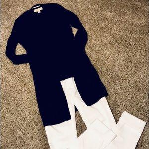 MK 2 piece,navy super, stretch sweater/cardi set💙